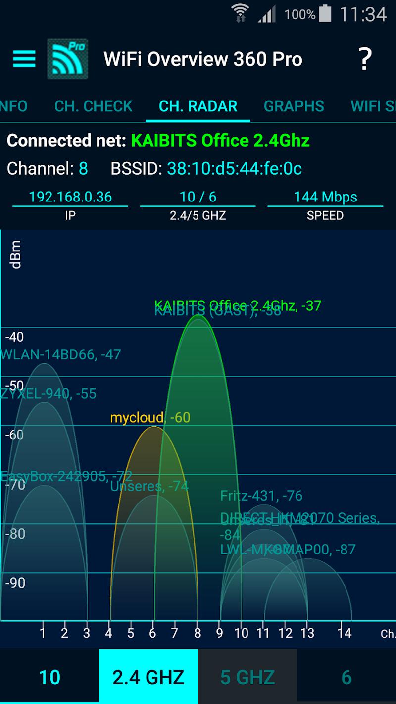 WiFi Overview 360 Pro Screenshot 3