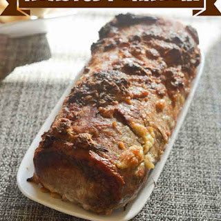 Roasted Pork Loin with Rosemary and Garlic.