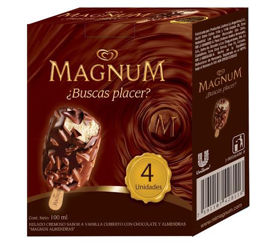helado multipak magnum almendra x100ml x4und