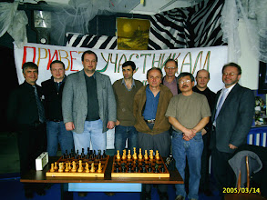 Photo: First Russian Chess Championship in Vancouver. Alexander Rutkovsky (Russian Video), Eduard Epshtein, ..., Vitaly Lioznyansky, Igor Kurgansky, Alexander Ivanov, Georgy Kim, Oleg Mishustin, Alexander Kulyashov (Vancouver Express)