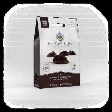 Chocolat Rosettes de chocolat noir Boîtes maison