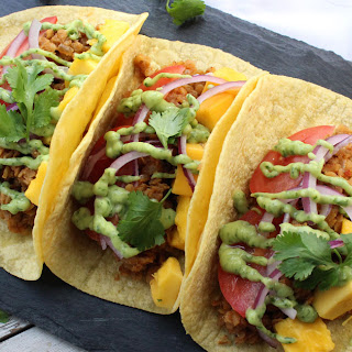 Lentil Tacos with Avocado Cilantro Sauce