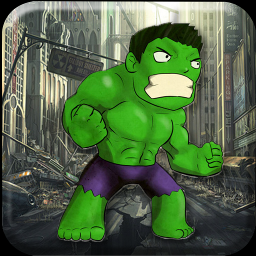 Giant Green Strong Man Rush
