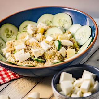 Fresh Mozzarella and Cucumber Quinoa Salad.