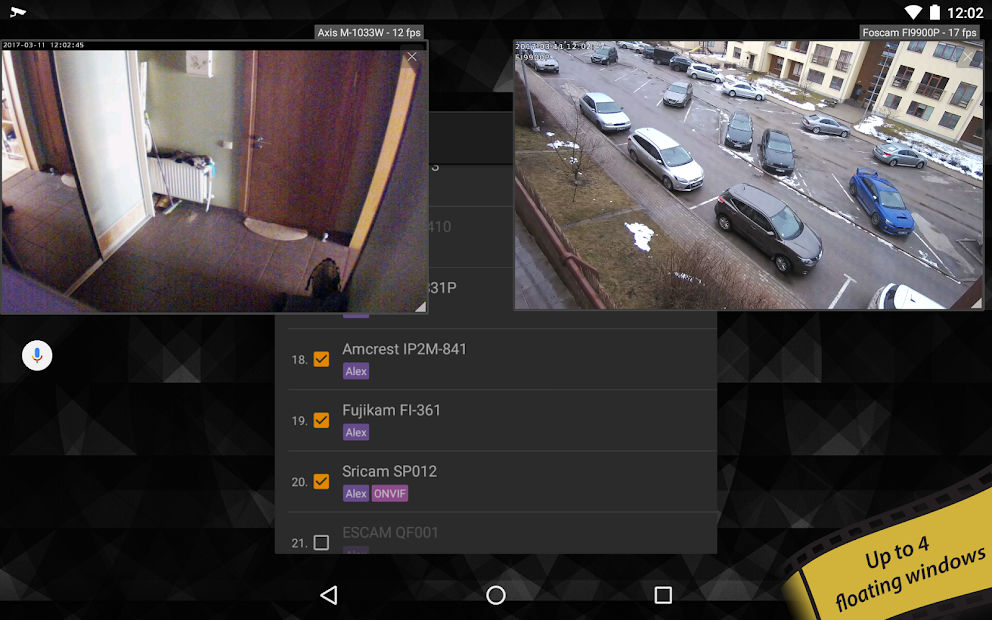 tinyCam PRO - Swiss knife to monitor IP cam Mod