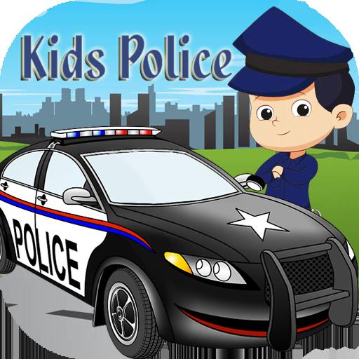 Kids Police Car Driving Simulator Racing games