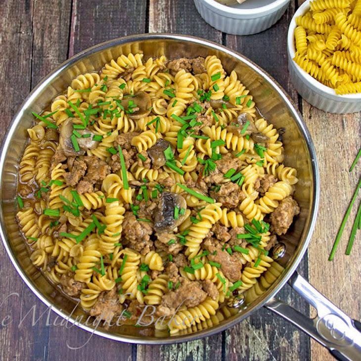 Ground Beef & Pasta with Gravy