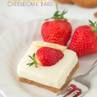 Lemon and Ginger Cheesecake Bars
