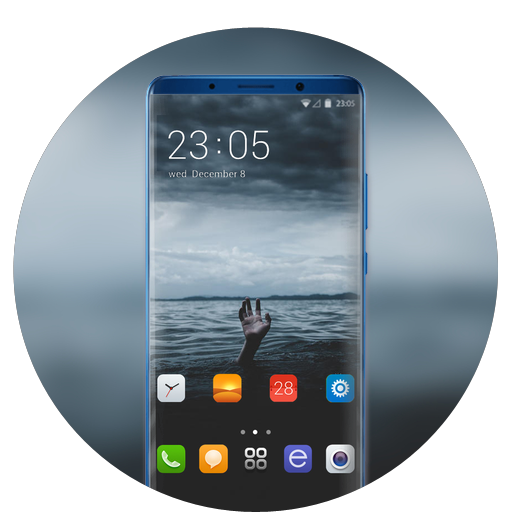 Theme for asus zenfone max pro M1 drown wallpaper icon