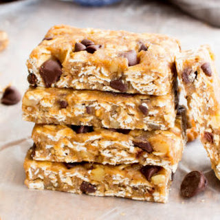No Bake Almond Butter Chocolate Chip Cookie Dough Granola Bars (Vegan, Gluten Free, Whole Grain, Dairy-Free).