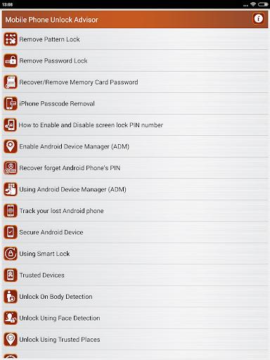 Clear Mobile Password PIN Help  screenshots 17