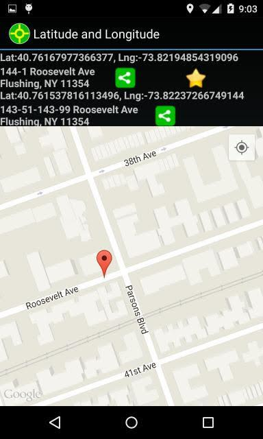Latitude Longitude- screenshot