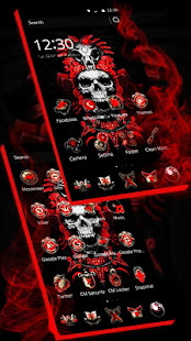 App Red Blood Skull Launcher APK for Windows Phone