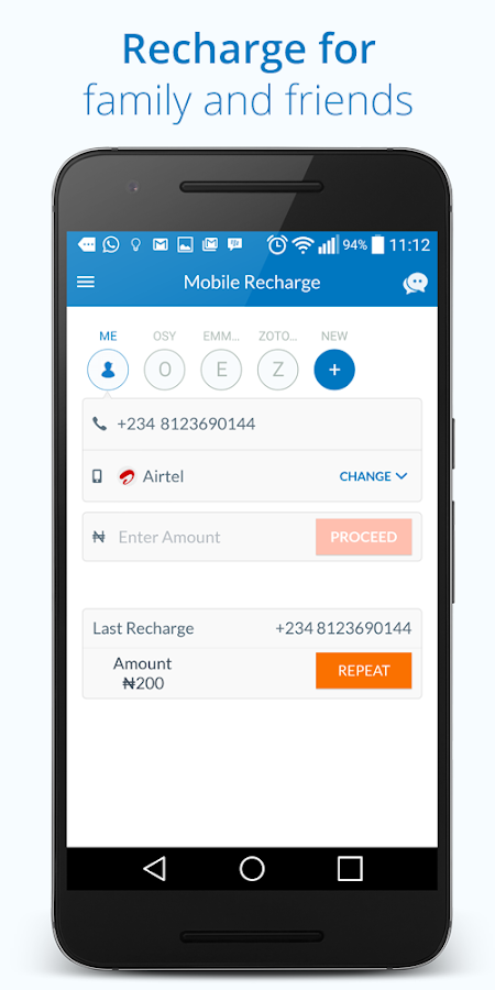Mobile Recharge- screenshot