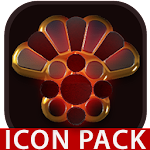 Vesuv icon pack red glow gold black 1.4