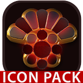 Vesuv icon pack red glow gold black