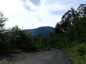 林道を駐車場まで歩く