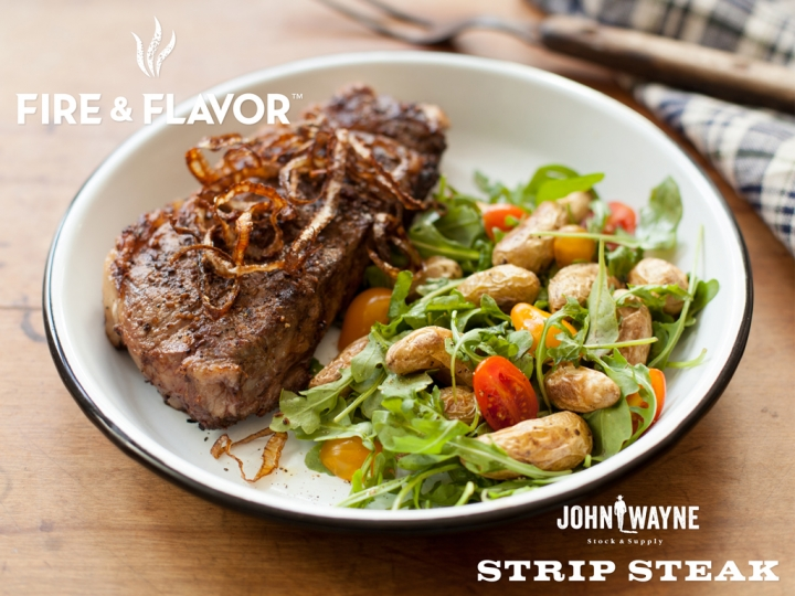 Grilled Strip Steak with Balsamic Marinade Recipe