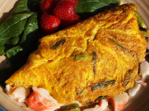 Crab & Asparagus Omelette Recipe