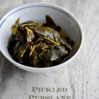 Pickled Purslane.