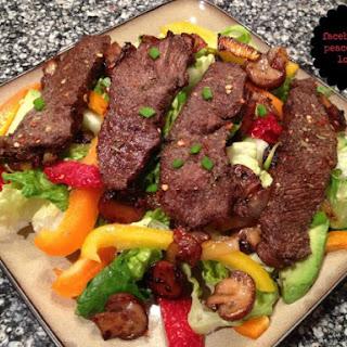Balsamic Flat Iron Steak Salad (Low-Carb, Gluten-Free Paleo, Dairy-Free, Whole30).