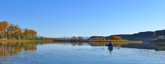 Photo: The other 4 in our group left Helena at 6 am Thursday, and we started paddling shortly after 9 am Thursday.