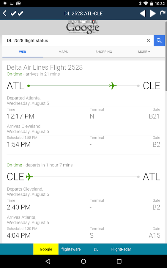 Cleveland Airport Radar Cle Flight Tracker Android