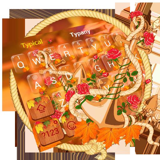 Autumn Maple Leaf Keyboard Theme