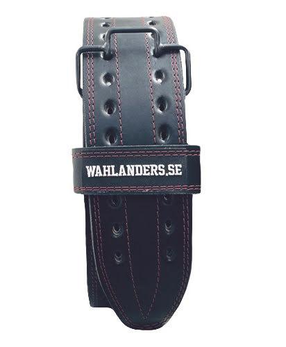 Wahlanders Bälte svart med röd söm - Small