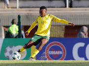 Noko Alice Matlou of South Africa during the COSAFA Womens Championship semi final match between South Africa and Uganda at Wolfson Stadium on September 20, 2018 in Port Elizabeth, South Africa.