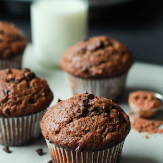 Skinny Double Chocolate Banana Muffins.