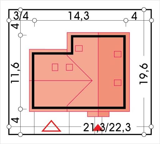 Aida wersja D podwójny gar. i pokój nad garażem - Sytuacja