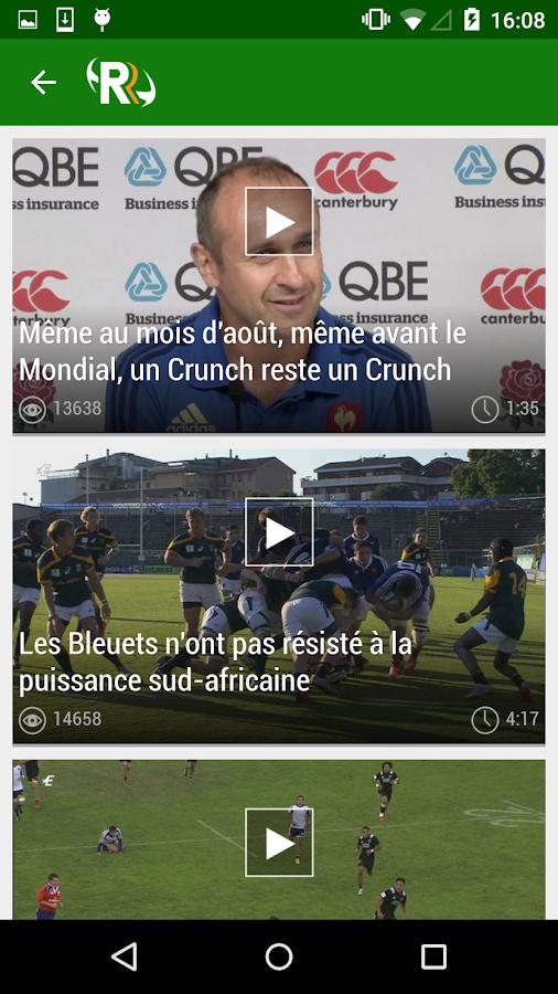 Rugbyrama– Capture d'écran