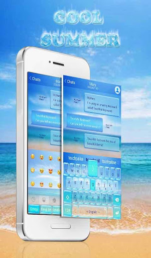 TouchPal Cool Summer Theme screenshot