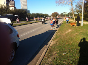 Photo: Th lead men heading back toward downtown on the first loop
