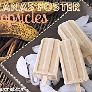 Bananas Foster Popsicles.