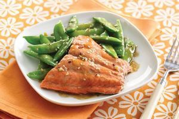Sesame Salmon & Snap Peas(hungry Girl) Recipe