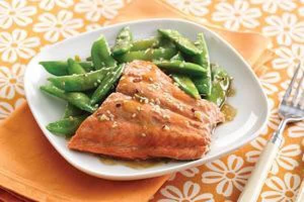 Sesame Salmon & Snap Peas(hungry Girl)