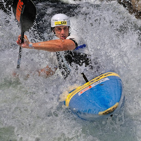 Kayak by Bostjan Pulko - Sports & Fitness Watersports ( slovenia, kayak, sava river )