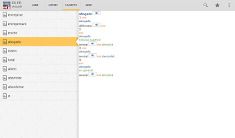 Screenshot of Spanish<>French Dictionary T