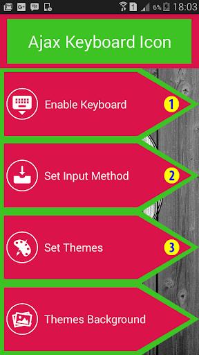 Icon Ajax Keyboard