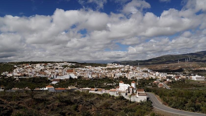 Vista panorámica del municipio de Abla.