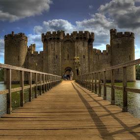 Entrance of the Castle by Bela Paszti - Buildings & Architecture Public & Historical ( water, england, uk, sky, sussex, east sussex, castle, bridge, nikon,  )