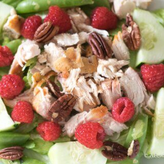 Raspberry Pecan Grilled Chicken Salad