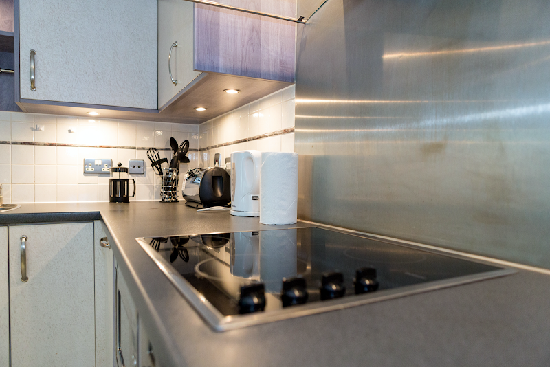 Fully equipped kitchen at St George Wharf Serviced Apartments