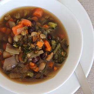 Kitchen Scraps Vegetable Bean Soup