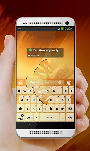 玩個人化App オレンジの夕日 GO Keyboard免費 APP試玩