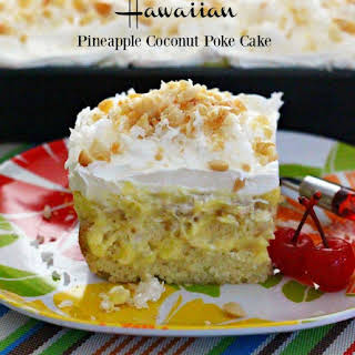 Hawaiian Pineapple-Coconut Poke Cake.