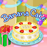 Banana Cake Cooking Icon