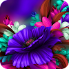 Purple Bloom:Flower launcher for Samsung S6 theme